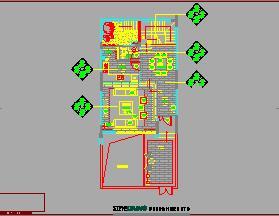 四层带地下层私人别墅装修施工图纸