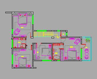 二层独栋别墅装修施工图纸(西班牙风格)