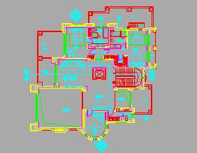 二层带地下层高尔夫别墅装修施工图