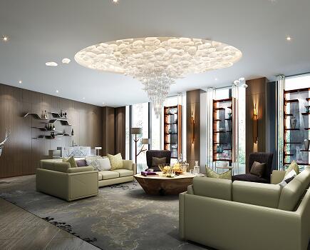 某豪华星级大酒店客房样板房装修施工图纸