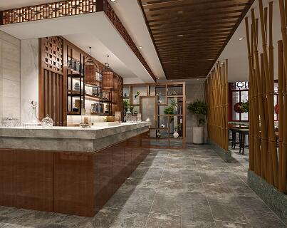 1200平米宾馆及茶楼装修施工图(中式风)