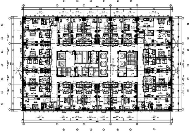 时尚大酒店全套施工图纸(含实景图)