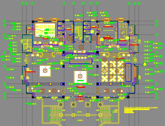 某事务所装修施工图纸(含效果图)