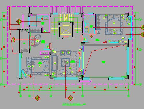 三层别墅装修装饰设计图纸(含效果图)