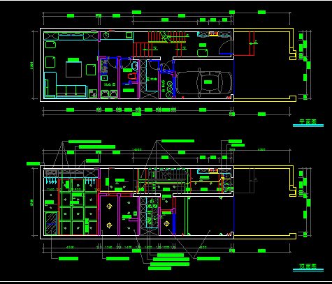 三层别墅装修设计施工图纸(含效果图)