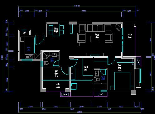 六合开奖结果风格样板房设计施工图纸(含效果图)