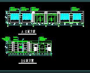现代风格大酒店装修立面节点详图