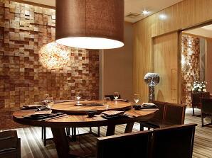现代风格餐厅室内装修施工图纸