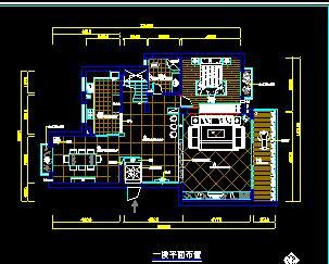 二层别墅装修施工图纸(六房三厅)