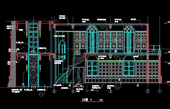 二层别墅建筑装修设计图纸