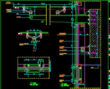 某银行异形铝板外立面施工图及节点图