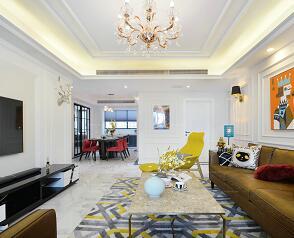美式古典风格三居室住宅装修施工图纸