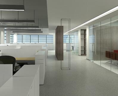 现代风格研发楼办公室装修施工图纸