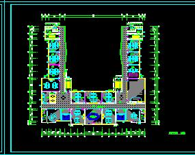 医院6层门诊楼及医技楼装修施工图纸