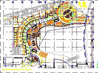 美食广场装修施工图纸