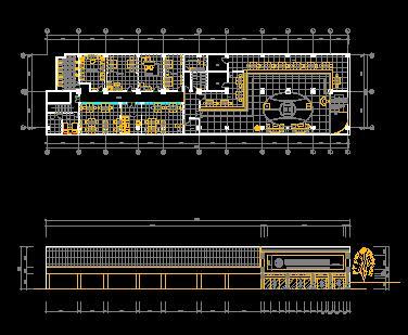 两层营业厅装修设计图纸