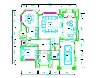 某三层独栋别墅装修平面设计图纸