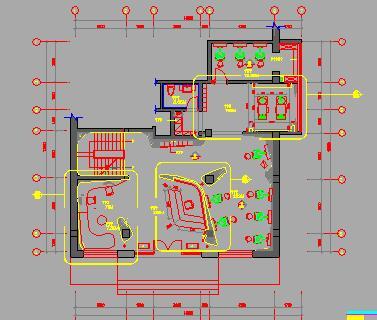 两层带地下层理发造型店装修施工图纸