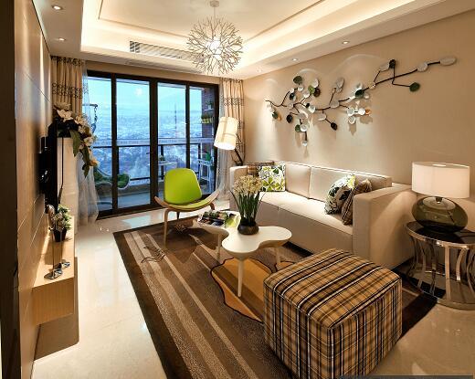两居室住宅样板房装修施工风格(现代简洁图纸cad一比怎么一打图纸图片