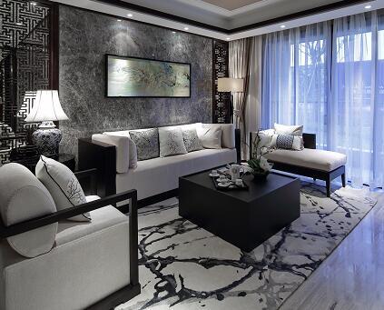 四居室住宅样板房装修施工图纸(新中式)
