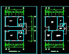七层办公楼装修施工图纸(混搭配风格)