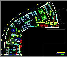 汽车公司三层办公楼现代风格装修施工图纸
