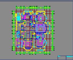 397.75平米新古典样板房A、B户型装修施工图含效果图