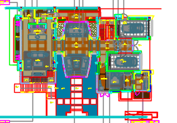 中式风格别墅样板间装修施工图(附效果图+材料图)