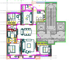 户型住宅样板间装修施工图(附效果图及物料)