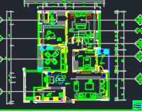 181平米3K户型住宅装修施工图(含效果图)
