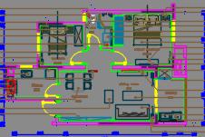 89平米现代简约风格小户型住宅装修施工图(附效果图)