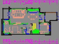 尊贵奢华半岛地中海别墅三、四层装修施工图(含效果图)