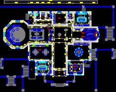 三层超级奢华别墅装修施工图