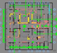 二层豪华高尔夫别墅装修施工图