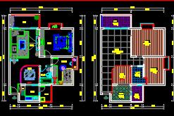 两室两厅住宅装修施工图