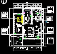 美式乡村二层别墅装修施工图(含效果图)