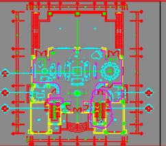 二层高尔夫别墅样板间装修施工图