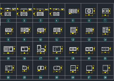 家装CAD平立面图库