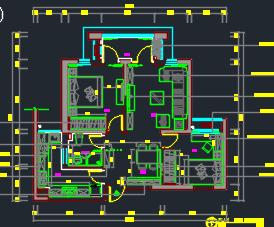 113平米住宅户型装修施工图