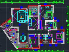 177平米现代风格住宅样板房装修施工图