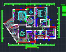 178平米东南亚风格住宅样板房装修施工图