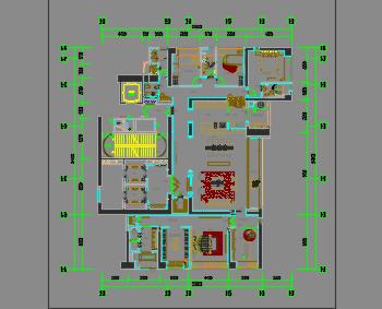 五居室住宅样板房装修设计图纸(含家具深化、软装方案、物料)