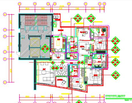 五居室住宅样板间装修设计图纸(含高清摄影、考察实景)