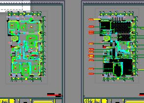 260.49平米五居室样板间装修施工图(含设计方案)