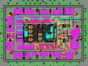 研发中心办公室十九层及二十一层装修施工图(含效果图)