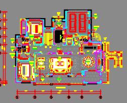 389平米样板房装修施工图(含效果图及材料表)