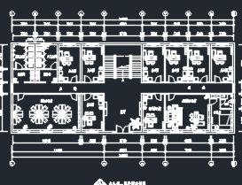 480平米办公楼装修施工图(含模型)