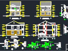 二层舒适型别墅装修施工图